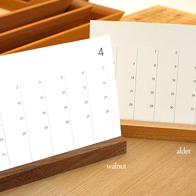 「2021年版 Desk Calendar」シンプルな木製カレンダー/北欧風デザイン