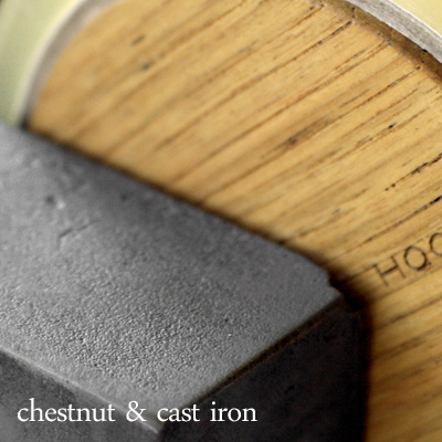 「Tape cutter」鋳物と木のテープカッター/Hacoaブランド/北欧風デザイン