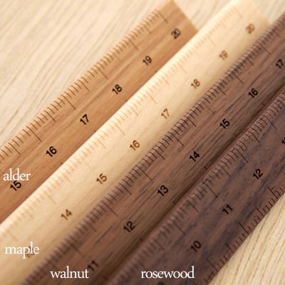 「Mono-Sashi」木製定規/北欧風デザイン