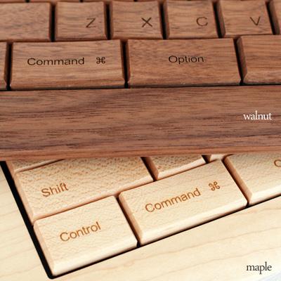 【送料無料】「木ーボード」木でできたキーボード/Hacoa(木製キーボード テンキー付き)北欧風デザイン