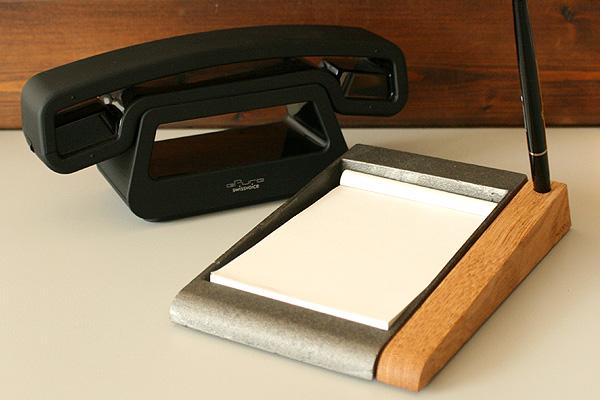 「Memo tray」鋳物と木のメモトレイ/Hacoaブランド/北欧風デザイン