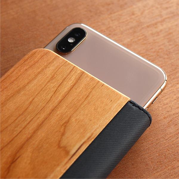 【SALE】【+LUMBER】「MULTI-SIZE SMARTPHONE CASE」機種を選ばない手帳型の木製マルチスマートフォンケース・スマホカバー