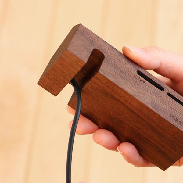 【生産終了】データを処理する小さな工場。かわいい木製カードリーダー「Card Reader Factory」