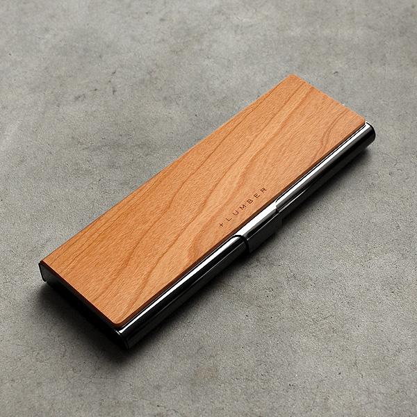 ■「PEN CASE」重厚感のあるステンレス素材と銘木をあわせた木製筆箱・ペンケース