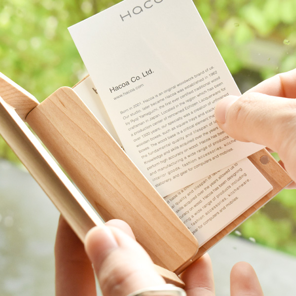 【ウォールナット】木の名刺ケース&印鑑ケース ギフトボックス。ウォールナット材を使用したビジネスセット