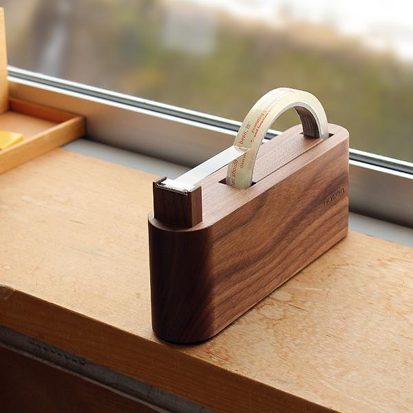 「Tape Dispenser」スリムでおしゃれな木製テープカッター・テープディスペンサー/北欧風