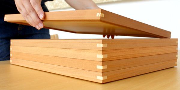 「ちぎり白木盆(尺一角サイズ)」器を選ばずいつでも使える木製のお盆・トレー