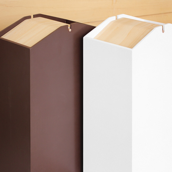 「ARROWS W」捨てたものが見えないふたつきのおしゃれな木製ゴミ箱/北欧風デザイン