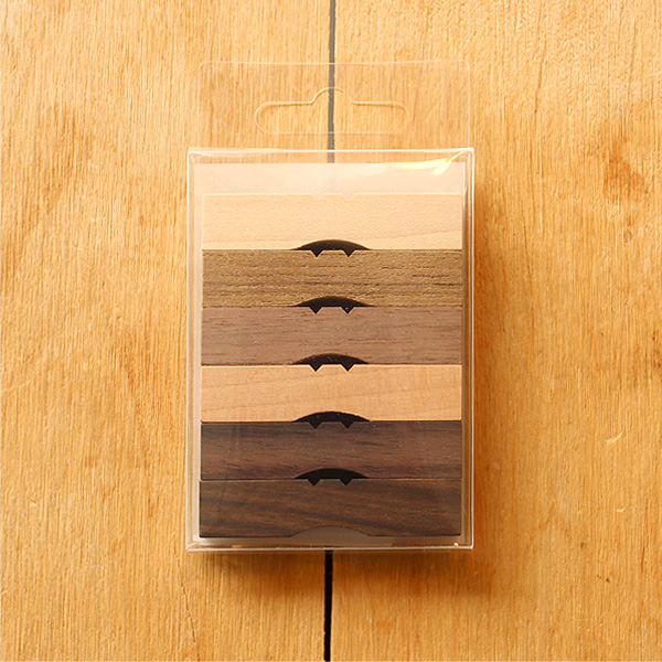 「無垢の箸置き」いろんな樹種の木を削り出して作った木製箸置き/北欧風デザイン