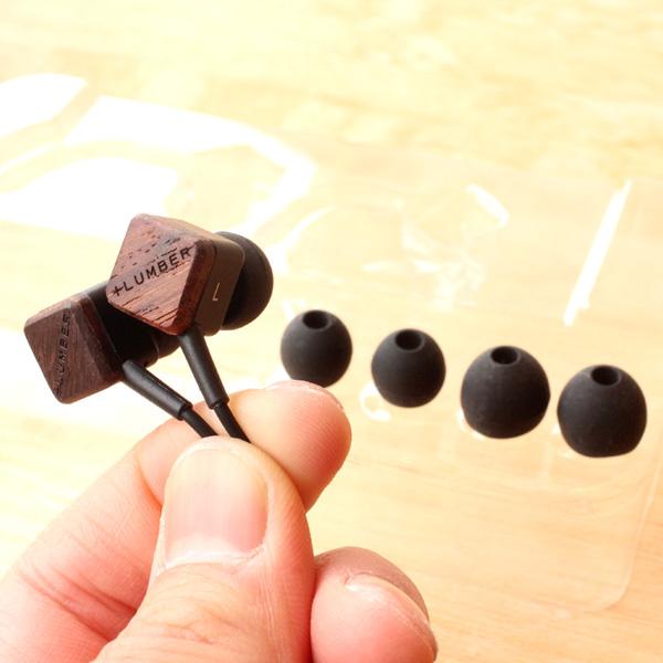 【生産終了】【+LUMBER】 銘木の魅力をプラスした木製イヤホン「EAR PHONES」