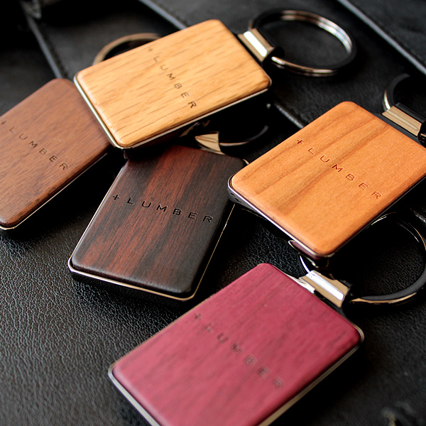 ■「KEYRING 001」銘木の美しさをプラスした木製キーホルダー・キーリング