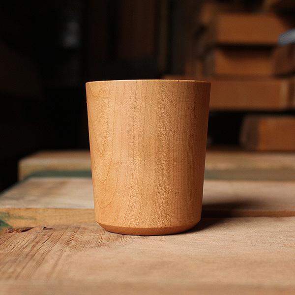 【160ml】「Wooden Cup 160」天然の木から削り出して仕上げた、薄さ約2mmの木製コップ・カップ・グラス・タンブラー