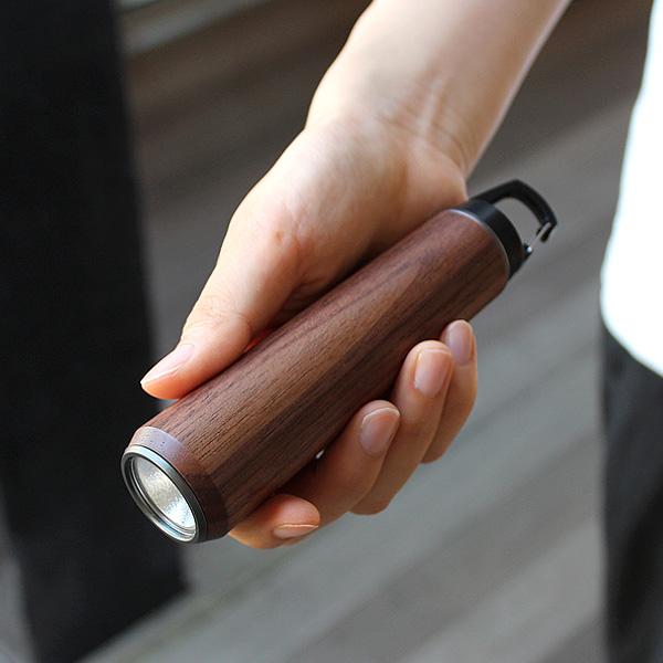 ■「LED HANDY LIGHT」優しい手触り、木の懐中電灯・LEDライト・ランタン
