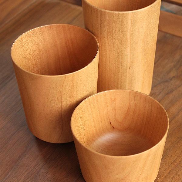 【260ml】 「Wooden Cup 260」天然の木から削り出して仕上げた、薄さ約2mmの木製コップ・カップ・グラス・タンブラー