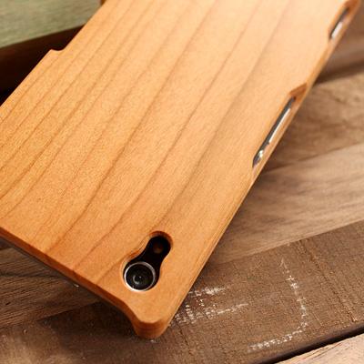 【生産終了】【Z2】 木製Xperiaケース 「Hacoa Wooden case for Xperia(TM) Z2 (SO-03F)」