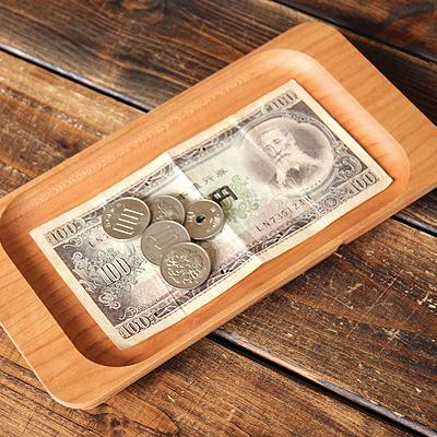 【ロゴ刻印代込】「CashTray」ショップロゴをレーザー刻印できるキャッシュトレイ