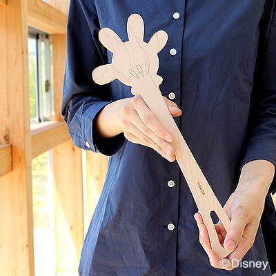 【Disney】「Hand in hand Disney」ミッキーマウスの手をモチーフにした木製調理ヘラで料理の時間を楽しく