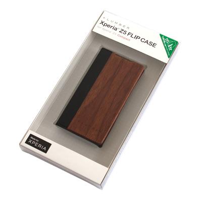 【生産終了】【Z5C FLIP】木目の美しさをシンプルに表現した手帳型スマートフォンケース「Xperia Z5 FLIPCASE for Compact」SO-02H