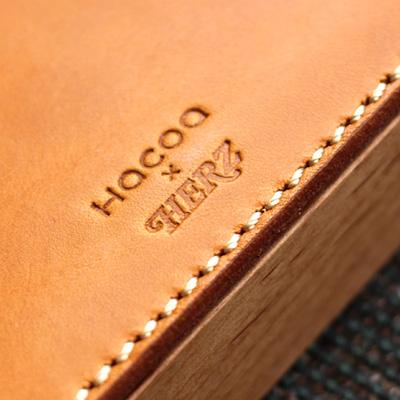 【ネット限定】【Hacoa×HERZ】【M】「STAMP MAT & CASE Mサイズ」木と革の捺印マット付き印鑑ケース/北欧風デザイン