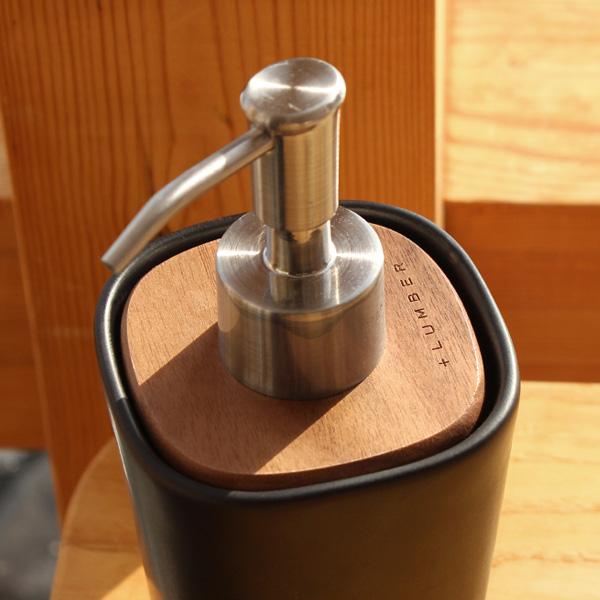 【生産終了】「SOAP DISPENSER」木と陶器を組み合せたソープディスペンサー