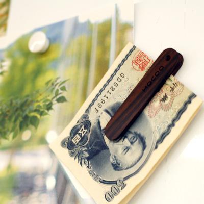 【SALE】「Money Clip」シンプルに手早くお札が挟める木製マネークリップ/北欧風デザイン