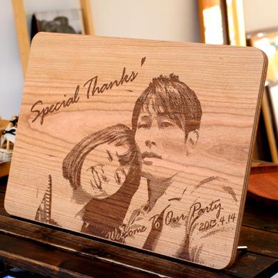 【生産終了】大切なメッセージを木製ボードに刻印、結婚式のオリジナルウェルカムボードに最適「Message Board A3 合板バージョン」北欧風デザイン