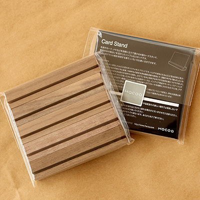 「CardStand」無垢の木の風合いを活かしたカードスタンド・カード立て【5個1セット】(アクリル板は別売)