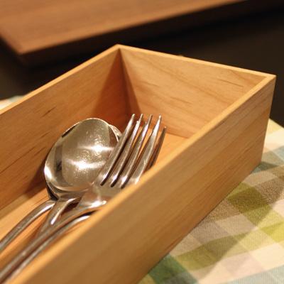 「CutleryBox」おしゃれな無垢の箱・カトラリーボックス・ケース・トレー/北欧風デザイン