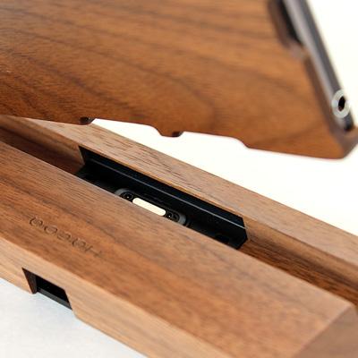 【生産終了】【Z1】 木製Xperiaスマホスタンド 「Hacoa SmartPhone Stand for Xperia(TM) Z1 (SO-01F/SOL23)」