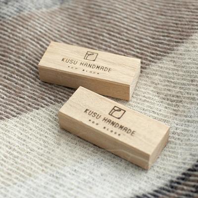 KUSU HANDMADE「エコブロック4個 +オイル5ml+コットンポーチ付き」クスノキのやさしい香りで防虫を贈り物に最適!