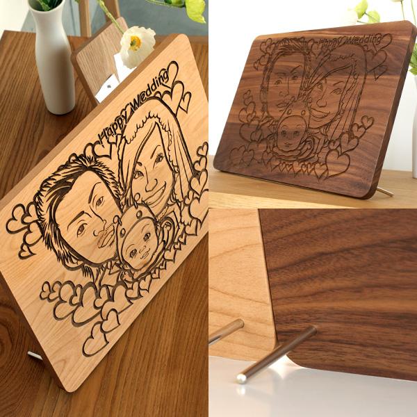 【刻印代込】「Message Board A3 無垢バージョン」大切なメッセージを無垢の木製ボードに刻印、結婚式のオリジナルウェルカムボードに最適/北欧風デザイン