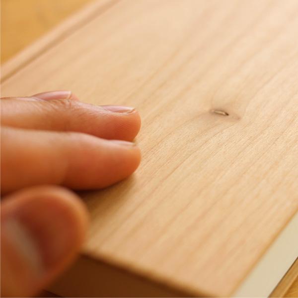 【生産終了】時と共に風合いを増す 木製ノート「Wooden Note」