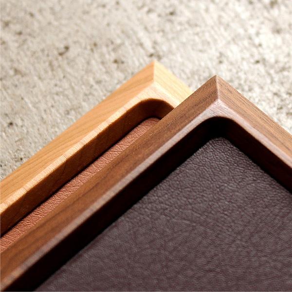 「Luxury Tray」銘木ウォールナット・チェリー材を使用した高級感ある木製トレイ