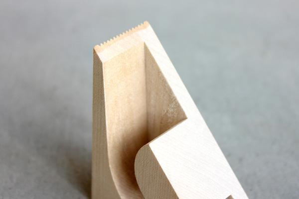 「kide-kiru MT テープなし」木でできたマスキングテープカッター