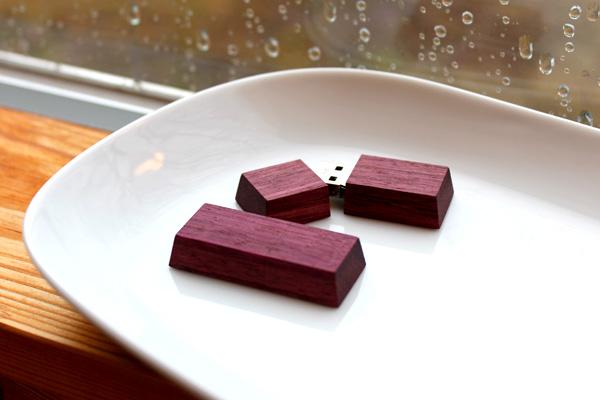 【16GB】「Chocolat Mini」チョコレートのようにかわいい小さな木製USBフラッシュメモリ/北欧風デザイン
