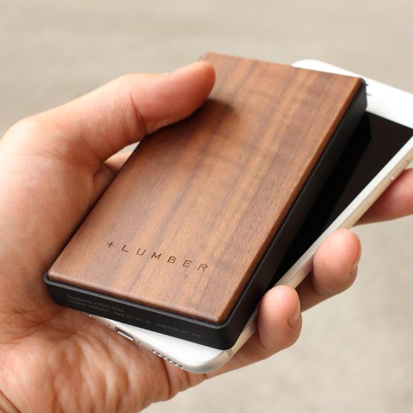 ■【ネット限定】【4000mAh】「POWERBANK 4000」 木製モバイルバッテリー。iPhoneにも対応【PSE認証】