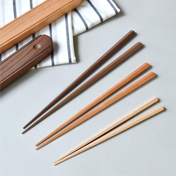 名入れもできる銘木の「五角箸」子ども用・女性用・男性用 / 結婚祝い・内祝い