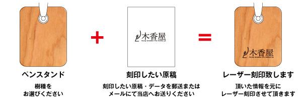 【ロゴ刻印代込】「PenStand」ショップロゴをレーザー刻印できる木製ペンスタンド(専用ペン1本付属)