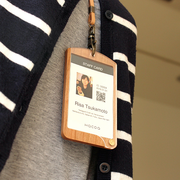 「ID-CardCase(タテ型)」木製IDケース・IDカードホルダー、社員証・定期入れに