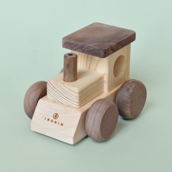 「MUSIC TRAIN(オルゴールトレイン)」名入れ可能。動かすと音楽が流れる国産ヒノキ使用のおもちゃ/IKONIH