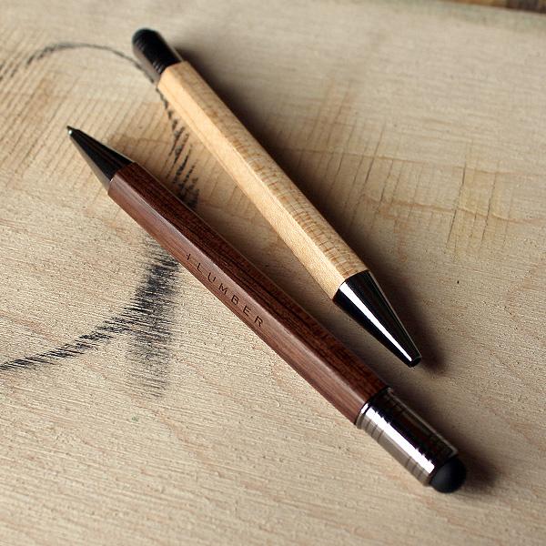 【販売終了】【+LUMBER】銘木をプラスした木製タッチ&ボールペン「CLASSIC BALLPOINT WITH TOUCH PEN」