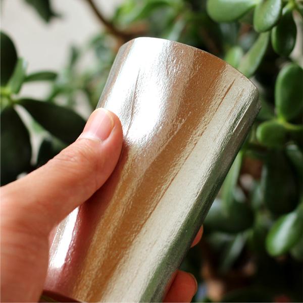 【Hacoa×能作】「UZUKURI Beer cup」伝統技法、浮造り(うづくり)した杉を錫(すず)に写し込んだビアカップ