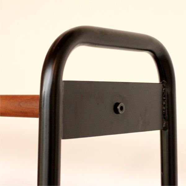 【送料無料】「HANGER SHELF」スチールと木のコントラストがおしゃれなハンガーラック・シェルフ