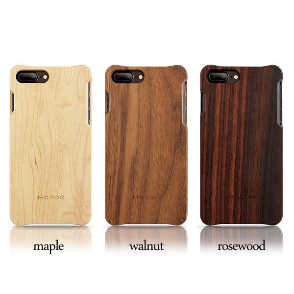 【SALE】【ネット限定】【8Plus/7Plus】【Hacoa】「Wooden case for iPhone 8Plus/7Plus」iPhone8Plus/7Plus用木製ケース【Qi対応】