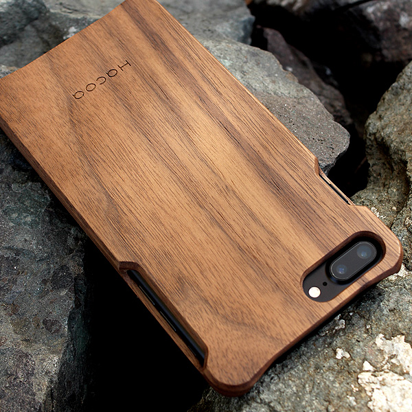 【8Plus/7Plus】【Hacoa】「Wooden case for iPhone 8Plus/7Plus」iPhone8Plus/7Plus用木製ケース【Qi対応】