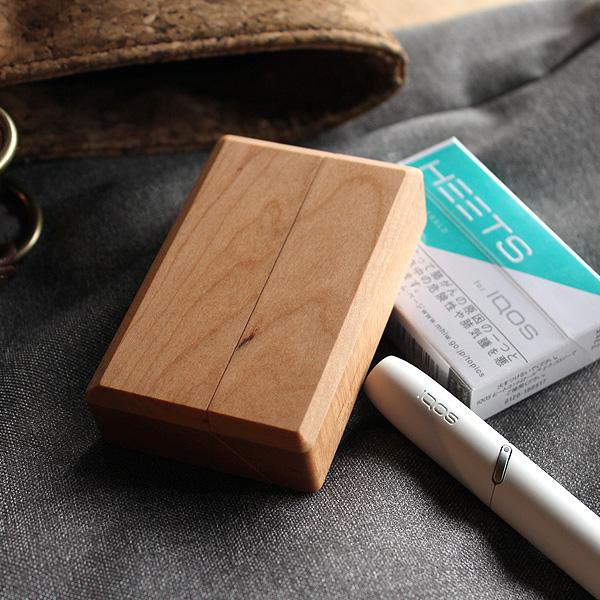 「IQOS HeatSticks Case BOX-IN」アイコス ヒートスティック専用木製ケース/タバコケース/IQOSケース