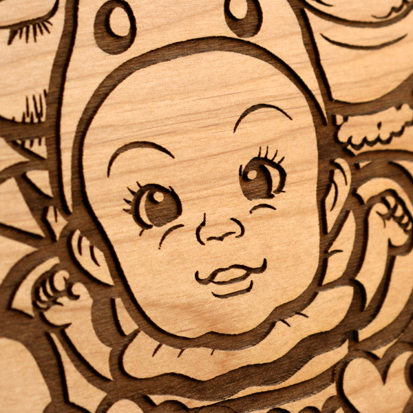 【刻印代込】「Message Board A4 無垢バージョン」大切なメッセージを無垢の木製ボードに刻印、結婚式のオリジナルウェルカムボードに最適/北欧風デザイン