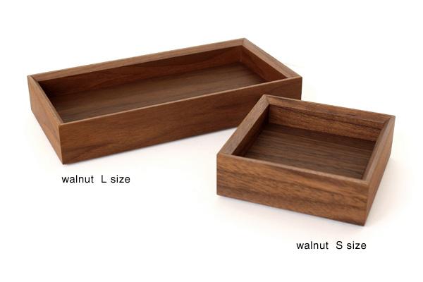 「Stackable Organizers Sサイズ×1個」スタッキング可能 木製デスクオーガナイザー/トレイ・トレー