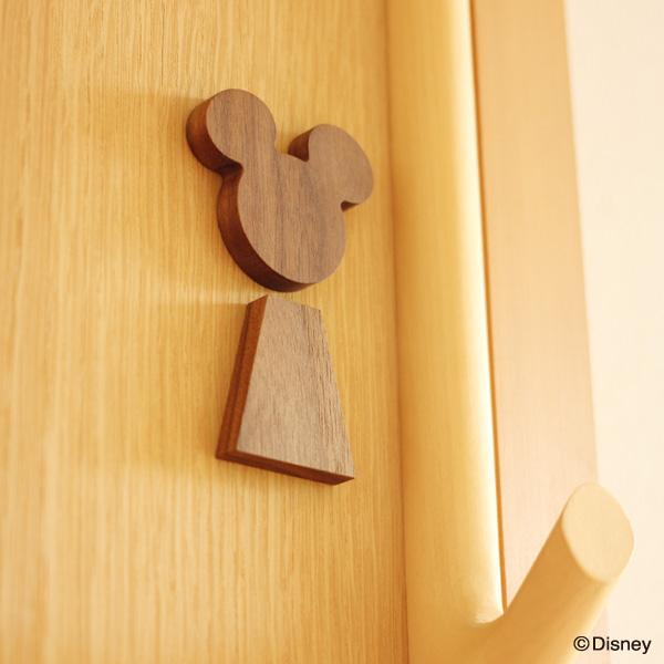 【Disney】「RoomSign Disney」ミッキーやミニーをいつもそばに。お部屋のアクセントになる木のルームサイン