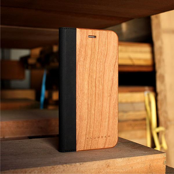 ■【SALE】【8Plus/7Plus/6Plus】「iPhone8/7/6 Plus FLIPCASE」木目の美しさをシンプルに表現した手帳型スマートフォンケース